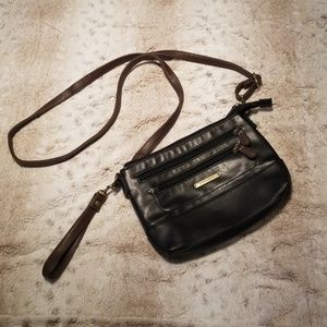 Smaller Black and Tan Cross Body